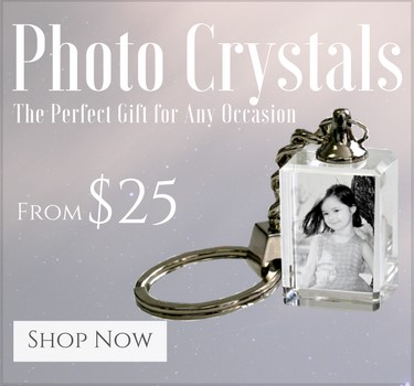 2d and 3d photo crystal with pictures
